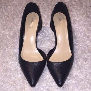 Aldo pointed-toe black heels